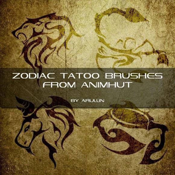 pinceles de tatuajes de los signos zodiacales