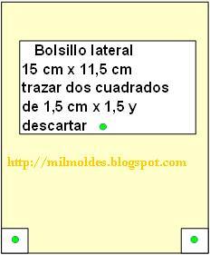 MOLDE DE BOLSILLO DE BOLSO GRANDE en MIL MOLDES