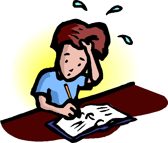 test anxiety clipart - photo #6