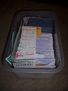 Organizing Coupons in a box