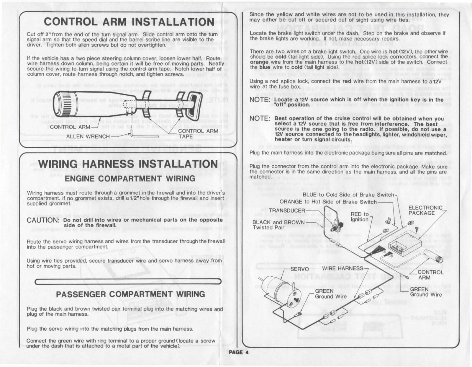 Gm Cruise Control Diagram Wiring Library Chevrolet 1983 Fleetwood Pace Arrow Owners Manuals 83 Electronic Maf Sensor
