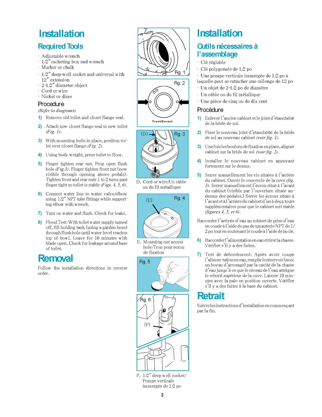 1983 Fleetwood Pace Arrow Owners Manuals: Thetford AquaMagic starliteGalaxy toilet