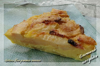 Gâteau flan pommes ananas, sans gluten