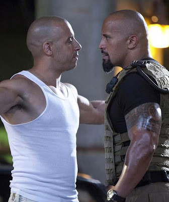 Vin Diesel and Dwayne Johnson - Fast Five movie