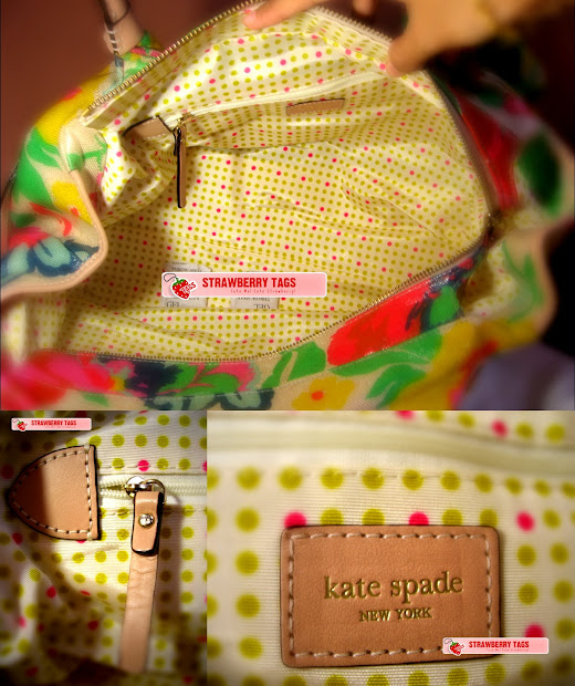 Strawberry Tags Kate Spade Stevie Blooming Grove Floral Handbag Purse