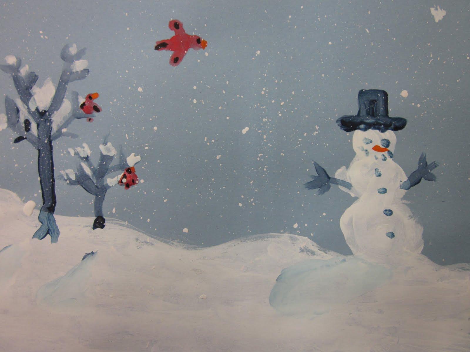 Winter Art Ideas For Grade 4