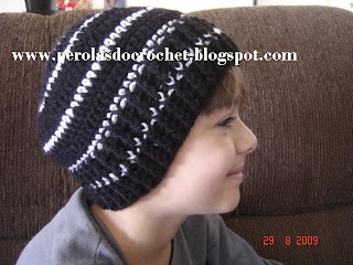 0f74155c0286f Gorro de croche para meninos. Acabei de fazer essas duas toucas! usei  mollet e agulha 4 mm.