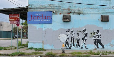 Banksy New Orleans marching band