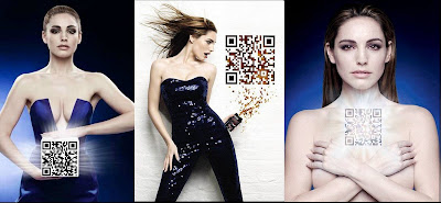 Kelly Brook Pepsi Max QR code