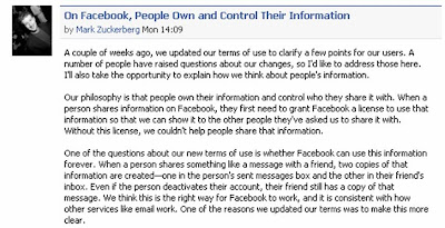 Mark Zuckerburg explains Facebook terms of service changes