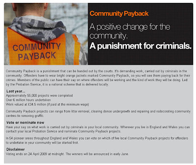 Community Payback voting