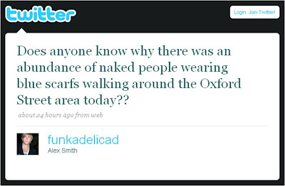 Naked people in London Twitter