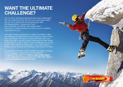 lucozade energy blogger challenge