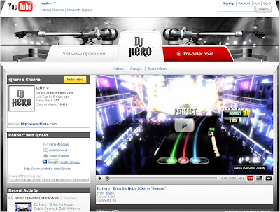 DJ Hero YouTube channel