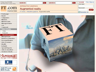 FT AR Financial Times Augmented Reality front view