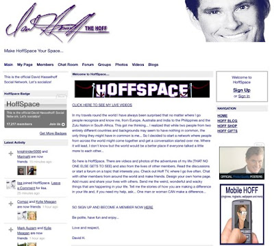 Hoffspace launch David Hasselhoff