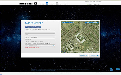 Adidas Star Wars Google Maps Laser targetting