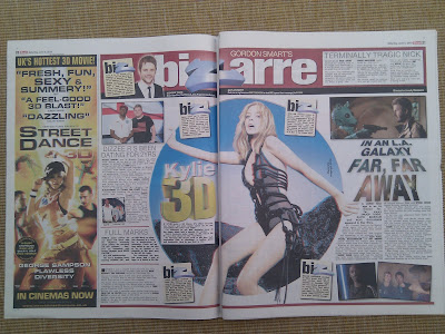 The Sun newspaper 3D Kylie