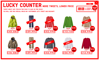 Uniqlo Lucky Counter promotion