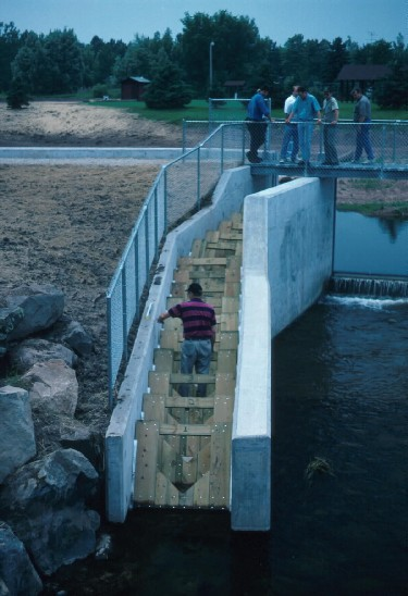 Mustionjoki cultural river restoration Example of fishways