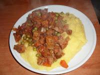 polenta con spezzatino di seitan