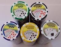 Chips o fichas de poker utilizadas en los torneos