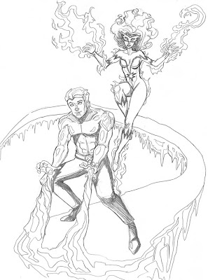 Ron's Sketchbook: Marvel One-A-Day - Day 77: Iceman and ...