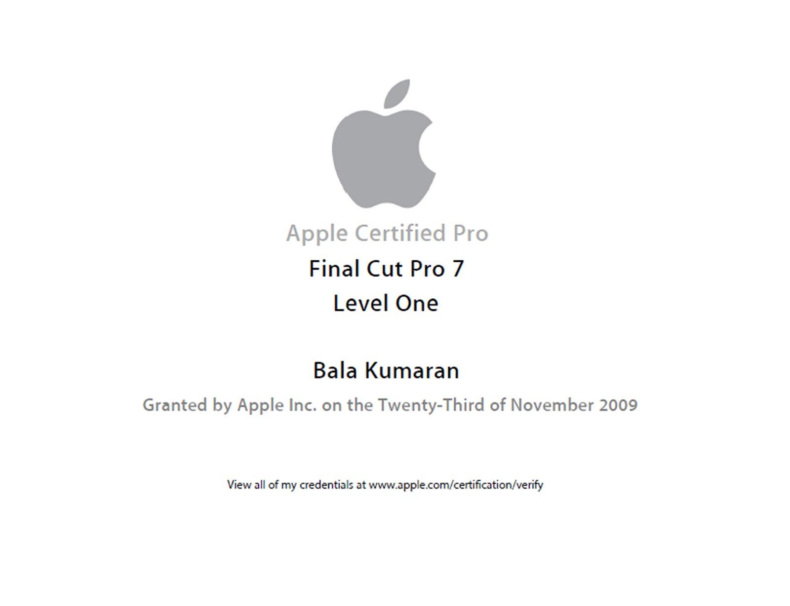 certificate apple