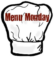 """A cartoon drawing of a chef\'s hat with the words, \""""Menu Monday\"""" written across it."""