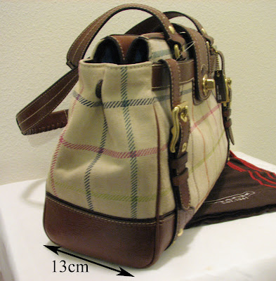 Luxury Bags For Less Coach Hamptons Suede Plaid