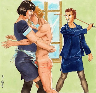 mom spanking drawings