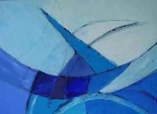Verbazingwekkend Schilderijen: Abstract acryl CT-75