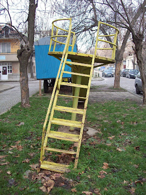 A Wonky Yambol Children's Slide