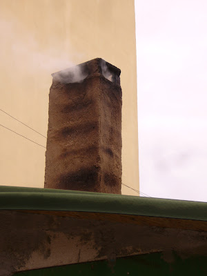 A Smoking Yambol Chimney in April