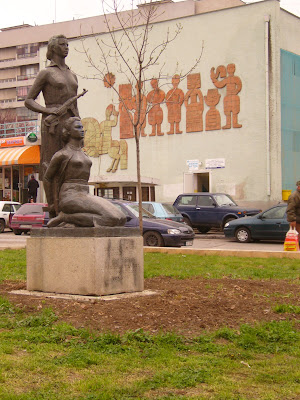 Yambol's Woman In War Statue Relocated