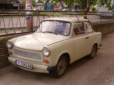 Another Classic Trabant With Roofrack In Yambol