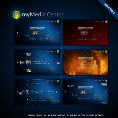 Free Download Sony PSP Themes: MyMedia Center psp theme ...