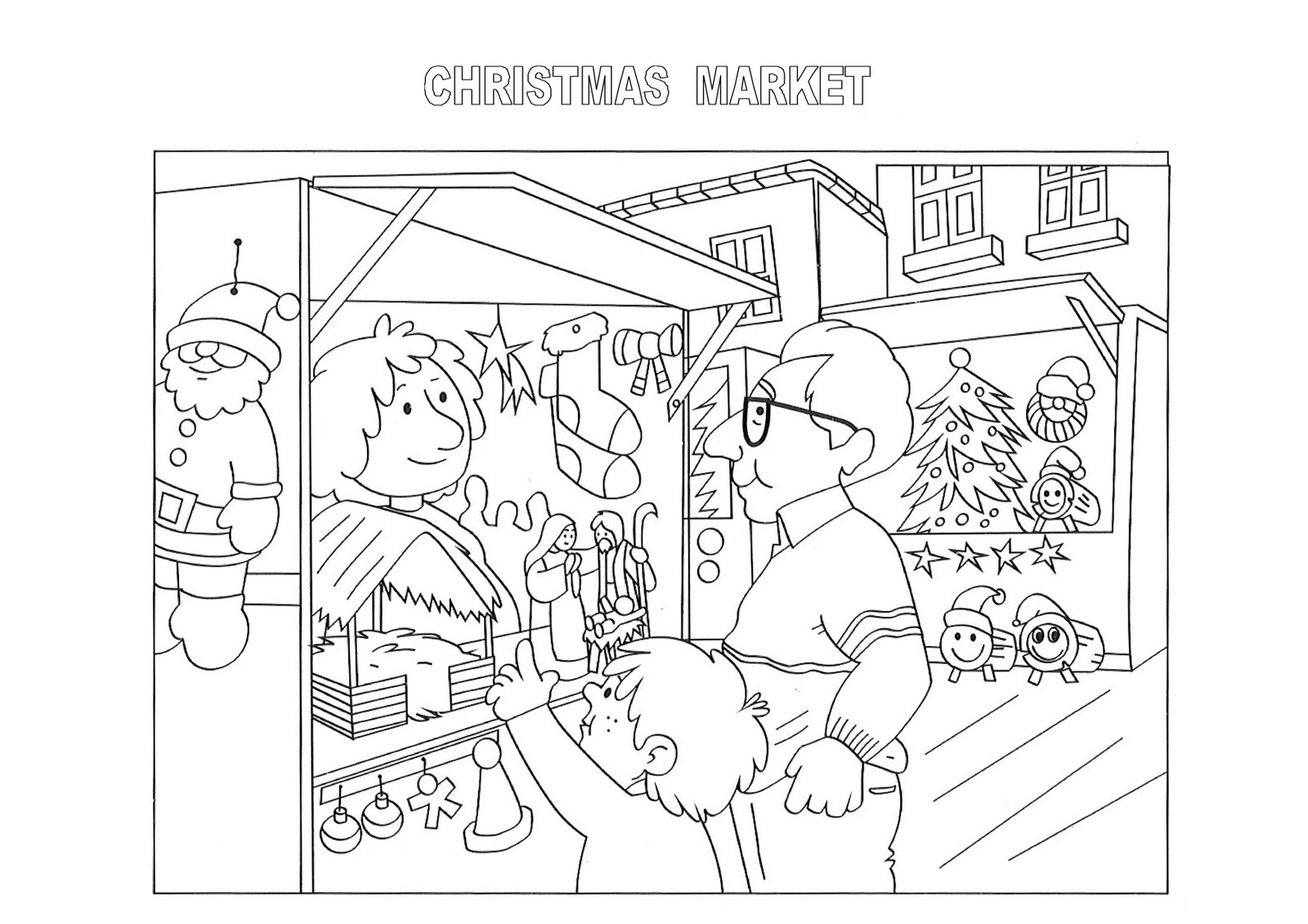 Once Upon A Time In Europe Christmas Coloring Pages From Catalonia