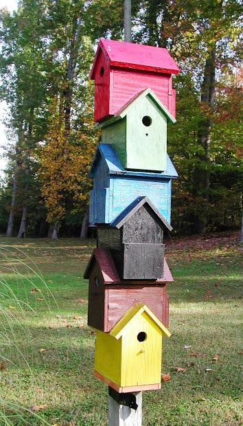 Corgis In Garden Whimsical Birdhouses