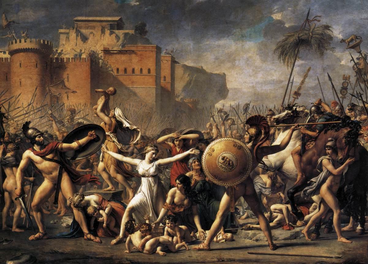 Artes Plásticas El Rapto De Las Sabinas Jacques Louis David