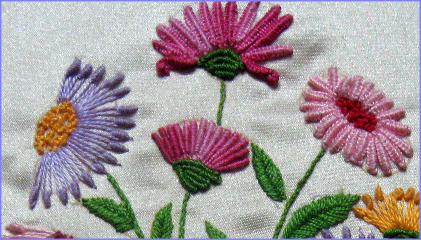 Vani s dimensional embroidery using anchor pearl