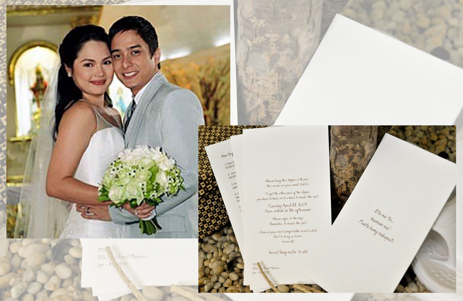 Judy Ann Santos Wedding Invitation