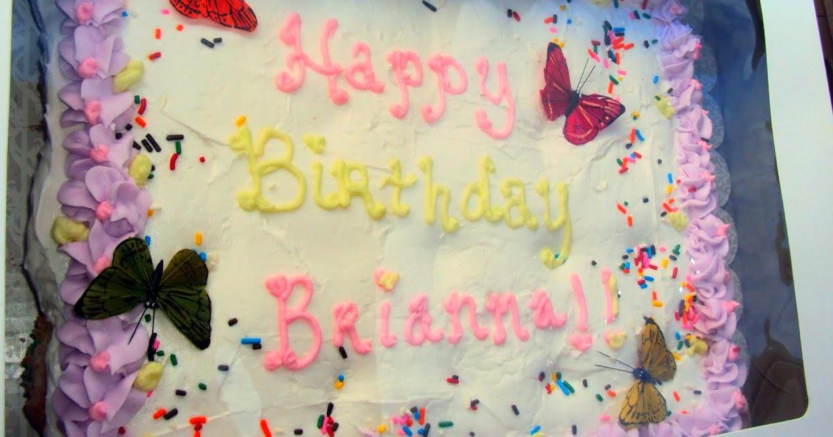 Creative Cakes Boutique Happy Birthday Brianna