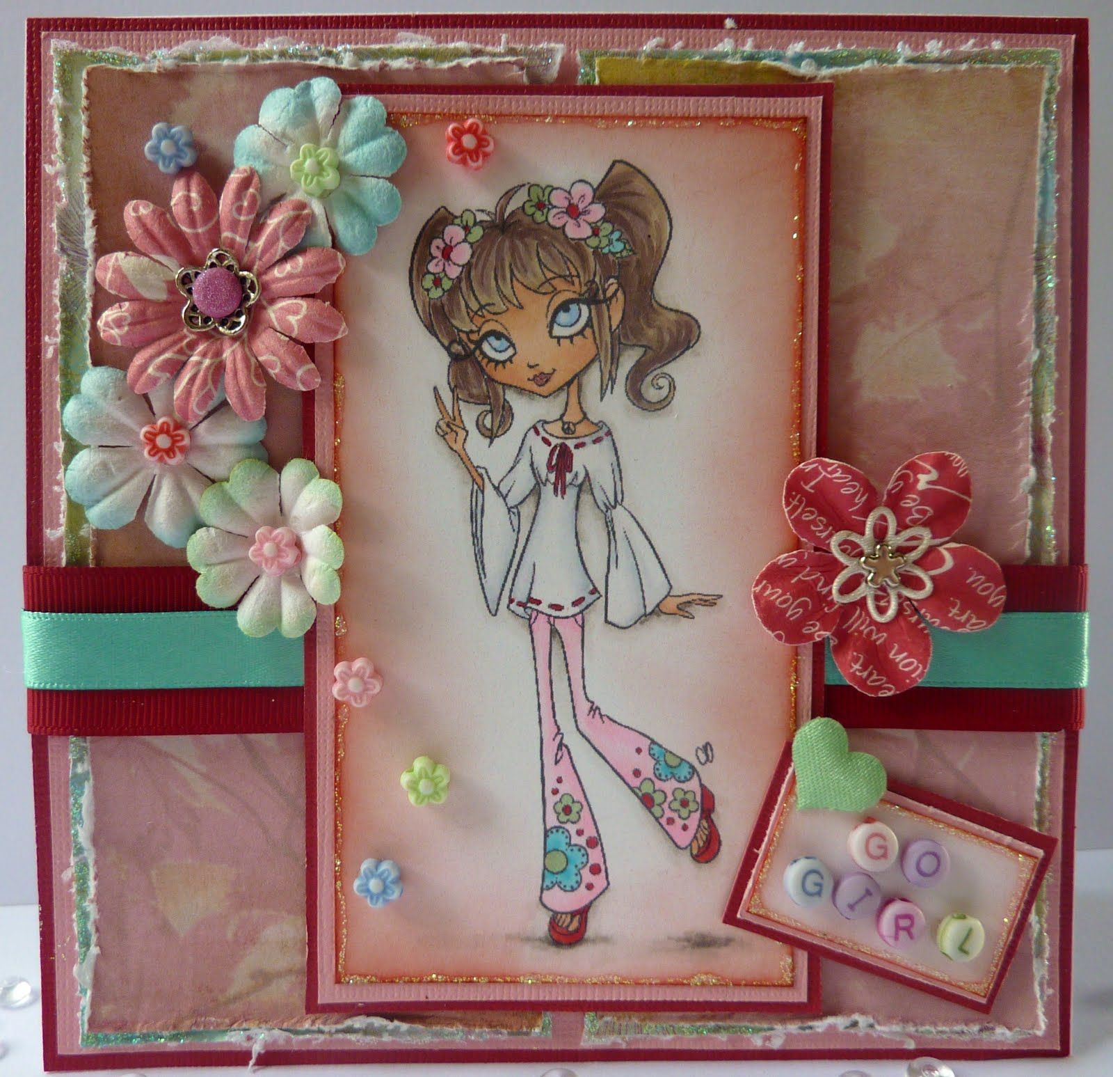 Jane S Lovely Cards Tickled Pink Stamps Dt Sponsoring Colour Throw Down