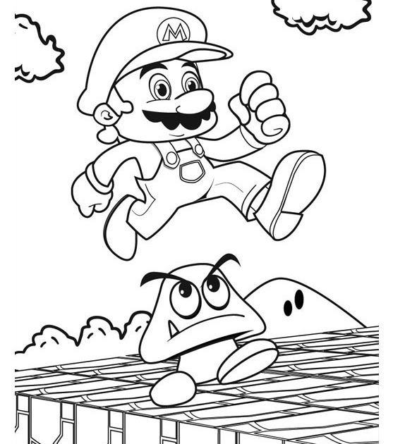Mario drift coloring pages >> Disney Coloring Pages