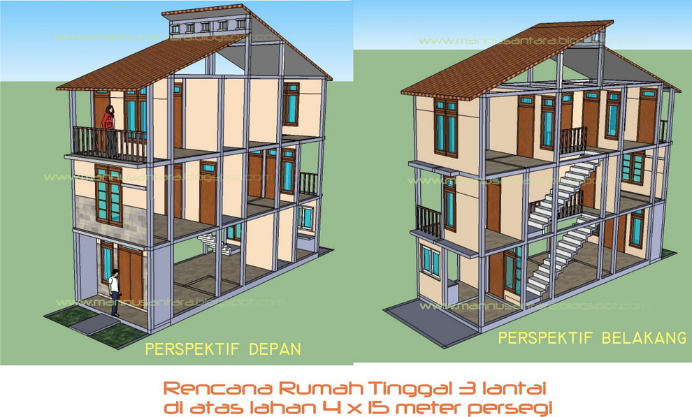 Gambar Rumah Model Persegi Panjang Gambar Con
