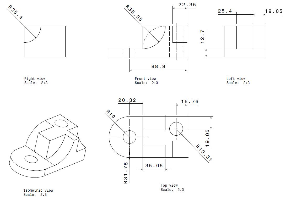 Worksheets Multiview Drawing Exercises yusuf khan industrial training at naza gurun may 2010 day 22 04 e d