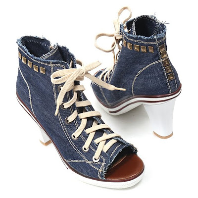 a41d14b8e5e5 I was truly impressed at the high quality and the fact that it s really the  same as pictured  D These are the denim sneaker heels I got for this  product ...