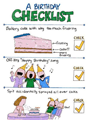B day checklist hedger humor a humorous look at life for Joke cheque template