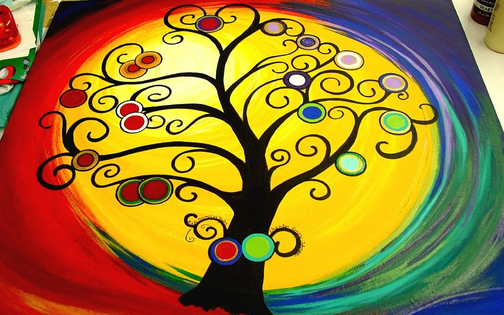 Make The Best Of Things Family Tree Painting Finished